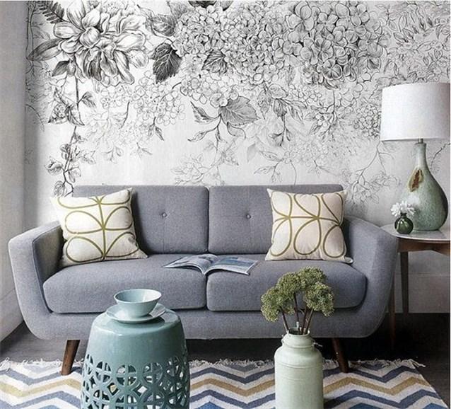 صور ورق جدران رمادي , احدث ورق حائط باللون الرمادى