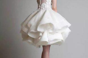 صور فساتين قصيرة منفوشة , اجمل ستايلات الفساتين القصيرة