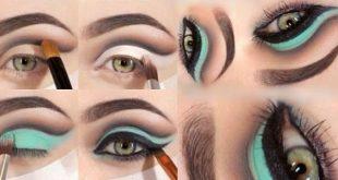 صور تعليم مكياج العيون , شرح طريقه مكياج العيون
