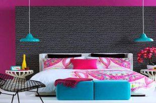 صورة غرف نوم ملونة , اجمل واحلى غرف نوم ملونة