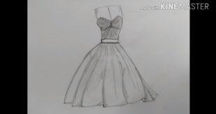 صورة تعلم رسم فستان , كيف تتعلم ان ترسم فستان