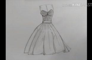 صور تعلم رسم فستان , كيف تتعلم ان ترسم فستان