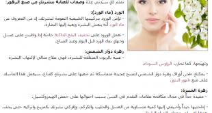 صورة وصفات طبيعية للوجه , اجمل ما تختارينه للحفاظ علي بشرتك