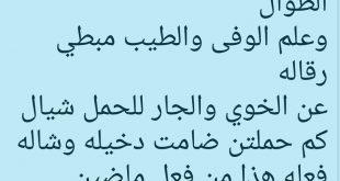 صورة قصيدة مدح الخوي, شعر مدح صديق