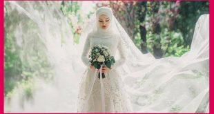 صورة فساتين اعراس للمحجبات, احدث موضة لفساتين الزفاف للمحجبات