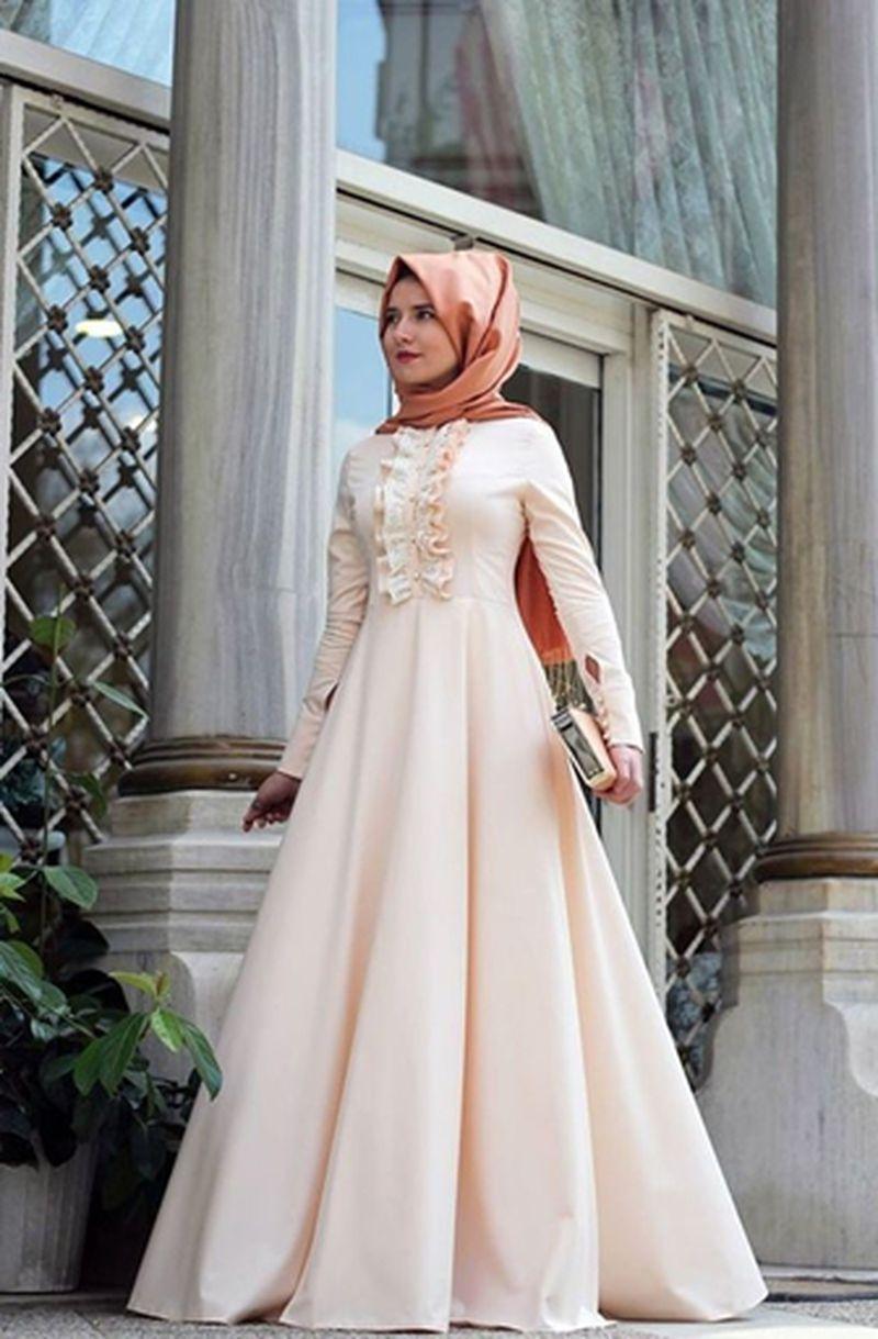 صورة اجمل الفساتين للمحجبات, احدث موديلات فساتين للبنات المحجبات