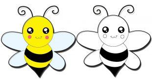 صورة طرق عديده لرسم النحله , رسم نحلة للتلوين 7244 1 310x165
